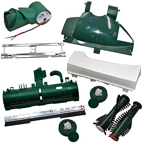 Mega Set Reparatur Set geeignet für Vorwerk EB 350 351 Bodenblech Bürste Deckel u.v.m. Kobold 131 135 …