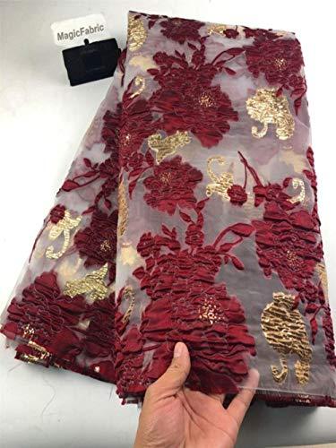 Nieuwe Afrikaanse Franse mesh kant stof Nigeriaanse net organza kant stof borduurwerk kant voor feestjurk COP-006, transparant