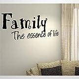 Pegatinas de pared y murales de vinilo con cita 'La esencia de la vida', con texto 'He Togather' | Vinilo decorativo para el hogar extraíble para dormitorio, sala de estar, guardería en interiores.