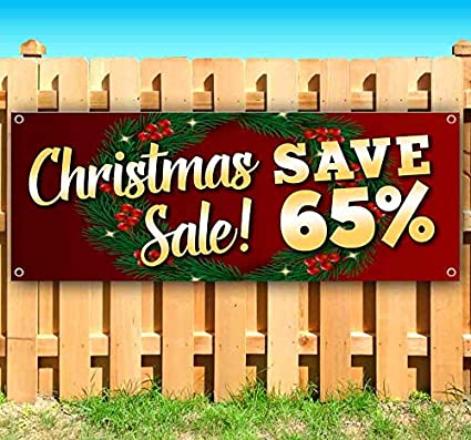 Heavy-Duty Vinyl Single-Sided with Metal Grommets Non-Fabric Christmas Offer 13 oz Banner