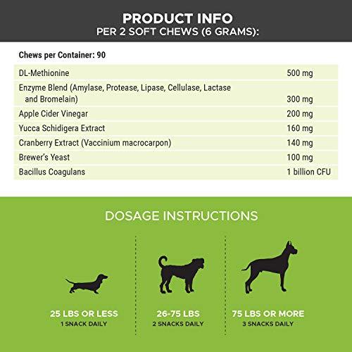PetHonesty GrassGreen Grass Burn Spot Chews for Dogs - Dog Pee Lawn Spot Saver Treatment Caused by Dog Urine - Cranberry, Apple Cider Vinegar, DL-Methionine Grass Treatment Rocks - 90 Chew Treats