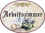 Kaltner Präsente Idea de regalo – Madera artículo de regalo decorativo para puerta en diseño antiguo artículo decorativo con motivo de despacho (Ø 18 cm)