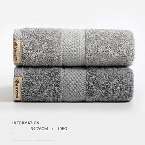 HXOUDAN handdoek van katoen, sneldrogend, gezicht, handdoek, badhanddoek, absorberend, reizen, thuis, badkamer, hotel, logeerkamer, zacht, 2 stuks, 34 x 76 cm