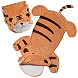 Cozy Tiger Animal Tail Blanket for Kids Soft and Comfortable Kids Sleeping Bag Sleep Sacks Blankets for Movie Night, Sleepovers, Camping and More - Fits Boys and Girls Ages 3 - 13 Years