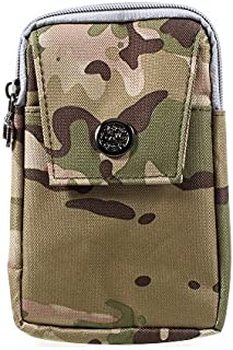 DFV mobile - Multipurpose Universal Belt Case Naval Military Army Camouflage for => ALCATEL POP MIRAGE > Brown (17.5 x 10 cm)