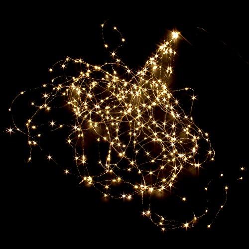 200cm LED Lichterbündel Lichterdraht Copper Light mit 360 warm weissen Micro LED`s Licht Draht Girlande