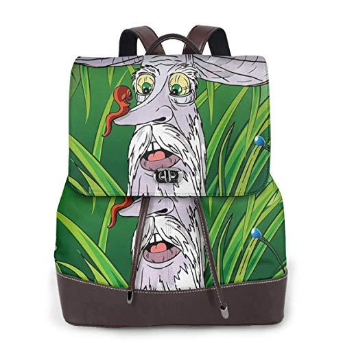 Zaino Donna Vera Pelle Fungo 2, Borsa da Viaggio a Grande Capacità, Borsa a Tracolla Lady Fashion Backpack Daypack per...
