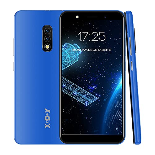 Xgody Mate10+ Smartphone Unlocked, Android 8.1 Cell Phones Cheap, Dual Sim-Free Mobile Phones with 5.5 inch HD Display, Dual 5MP Beauty Cameras + 8GB ROM (Blue)