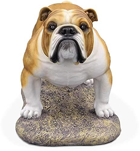 GAODINGD Modelo de Perro Realista, Escultura para Perros. 25x12x15cm Simulación Inglés Bulldog Resina Material, Colección Decoración y Obra de Arte (Size : 25x12x15cm)