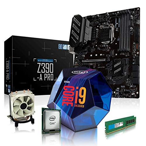 dcl24.de PC Aufrüstkit [11823] Intel i9-9900KF 8x3.6 GHz - 16GB DDR4, Z390-A Mainboard Bundle Kit, ohne onBoard Grafik, eigenständige Grafikkarte notwendig