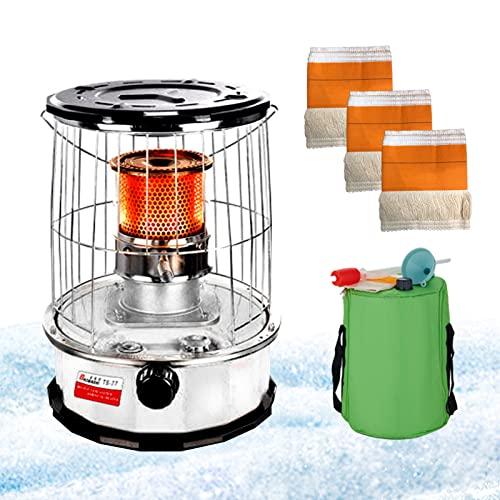 LYUQIU 6L Calentador de Queroseno, Estufas de Queroseno Portátil para Camping con Tapa de Esmalte Negro y Asa de Transporte, Calefactor de Petróleo para Exterior, Patio, Terraza