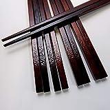 木曽ひのき箸 5膳セット 漆塗り 木曽ヒノキ 箸