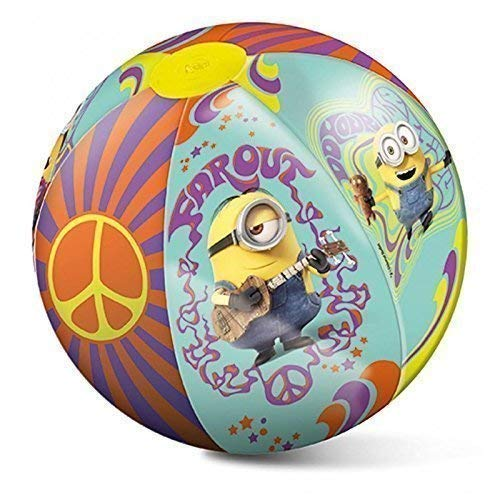 Lively Moments Wasserball / Spielball / Beachball von Minion / Minions Party Flower Power ca. 50 cm
