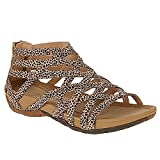 CYNLLIO Women's Platform Wedge Sandals Summer Arch Support Cross Strap Roman Sandals Outdoor Cutout Zipper Walking Gladiator Sandals