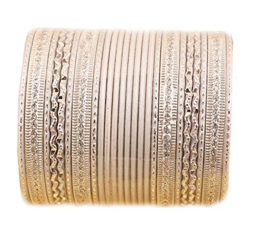 Touchstone 2 Dutzend spezielle Armreifarmbänder der Armreifsammlung für Damen 2.75 Set 2 Weiß