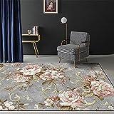Kunsen alfombras para bebé Cuadros cabecero Cama Matrimonio Alfombra de Dormitorio Gris Rectangular antiincrustante y Resistente al Desgaste Decorar habitacion 50X80CM 1ft 7.7' X2ft 7.5'