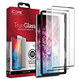 iCarez [3D Full Coverage Glass + Installation Tray ] Screen Protector for Samsung Galaxy Note 10+ / Note 10 Plus /5G 6.8-inch (Case Friendly) [Ultrasonic Fingerprint Compatible] [ 2-Pack 0.33MM 9H ]