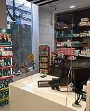 Mampara para farmacias. Pantalla protección para mostrador. Mampara separadora metacrilato para farmacias panaderias estancos supermercados alimentación (ANCHO 71 ALTO 75)