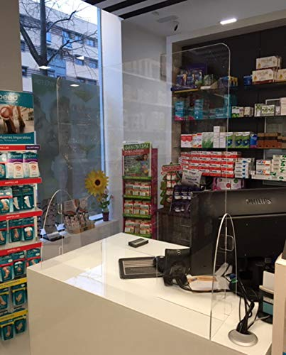 Mampara farmacias. Pantalla protección mostrador