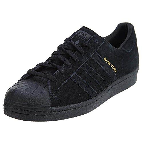 80. Adidas Superstar (Nueva York) - negro / negro-negro, 10 D con nosotros