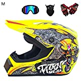 True-Ying Herren Offroad Motocross Helm, 4 Seasons Cross-Country Motorrad Vollschutzhelm Road Racing...