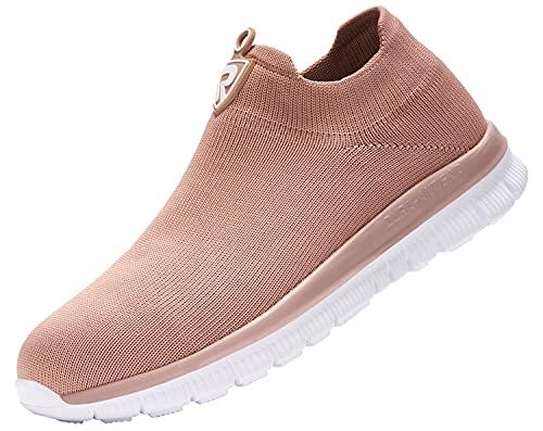 LARNMERN Zapatos de Seguridad Hombre Mujer Zapatillas de Seguridad con Punta de Acero Cómodo Ligeros Transpirablesin Cordones Trabajo,38.5EUBlanco