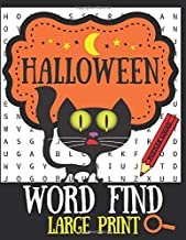 Halloween Word Find Large Print: 100 Word Hunt Puzzles Halloween and Horror Movie Themed