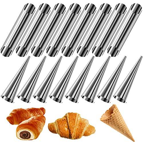 JJYHEHOT Horn Backform, Croissant Cannoli Schaumstoffrollen, Kegel Und Rohr (16 Stück)