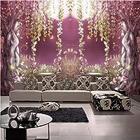 写真の壁紙3D立体空間カスタム大規模な壁紙の壁紙 森のロマンスの壁の装飾リビングルームの寝室の壁紙の壁の壁画の壁紙テレビのソファの背景家の装飾壁画-140X100cm
