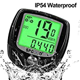 SPGOOD bike computer wireless 16 functions waterproof LCD cycling computer speed bike speedometer cycle...