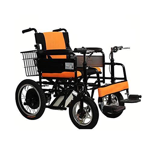 XiuHUA elektrische rolstoel, 2 handgrepen, senioren met handicatie, opvouwbaar, voor borstvoeding (love, rolstoel, verzorging voor mensen met een handicap)