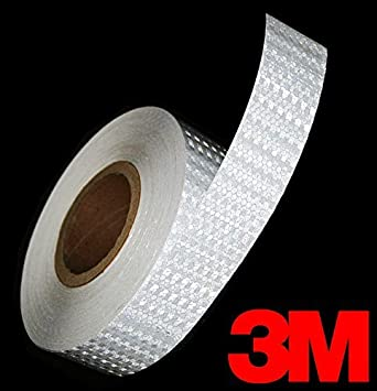 3M High Intensity Adhesive Diamond Reflective Automotive Vinyl 12 Inch Tape Roll 1 Inch x 12 Inch 2-Pack, Gloss Gold Reflective