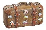 Koffer Reif für die Insel 5,8x2,8x3,9cm Floristik Reisegutschein