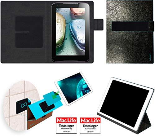 Hülle für Lenovo IdeaTab A1000 Tasche Cover Case Bumper | in Schwarz Leder | Testsieger