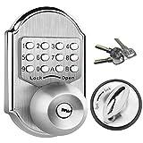 Elemake Keyless Deadbolt Mechanical Keyless Entry Door Lock Deadbolt Keypad Stainless Steel
