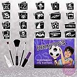 Glitter Body Art Ltd Boys Temporary Tattoo Kit with Black Ink - Inkatoo