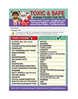 Toxic and Safe Foods Poison forペット犬猫緊急Ice Home Alone冷蔵庫安全マグネット Qty. 1 ブルー TOXSAFE