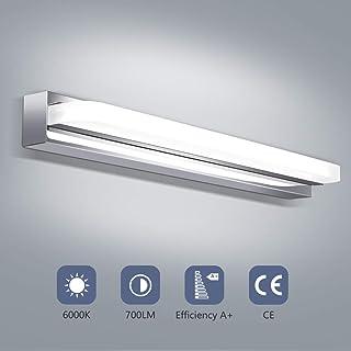 Lampe Miroir Salle de bain,Luminaire Salle de bain 42cm LED 8W 6000K Lumière Blanche Froide 700LM Pas d'éblouissement Conv...