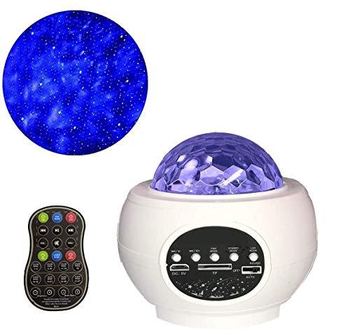 Aocean Proyector de luz de Estrella LED, Luces nocturnas giratorias, Luces de Discoteca, luz de Escenario, Reproductor de música Que Cambia de Color con Bluetooth, Temporizador y Control Remoto, para