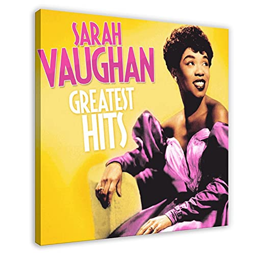 Sarah Vaughan Jazz Singer Queen of Bebop The Most Beautiful Sound of the 20th Seury Emozionante Intrattenimento Greatest Hits Sarah Vaughan Poster in vinile su tela di canapa
