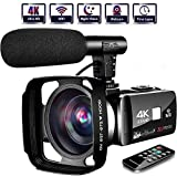 4K Camcorder Video Camera,Vlogging Camera for YouTube 30MP Camcorder 3.0 Inch Touch Screen