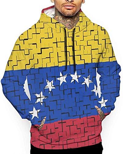 1Zlr2a0IG Venezuela Flag Puzzle Unisex Funny 3D Print Drawstring Pullover Hoodie Sweatshirt with Kangaroo Pocket