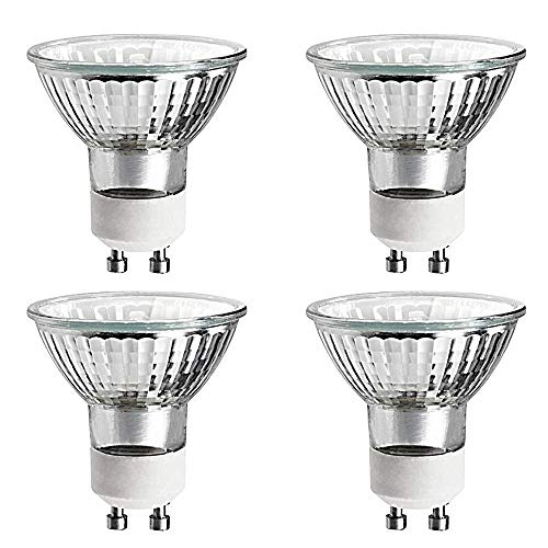 Halogen Light Bulb MR16 GU10 Base 120v Reflector Exn Flood Lights for Track Lighting Bulbs and Recessed Cans Spotlights with UV Filter Cover (20 Watts, 4 Pack)
