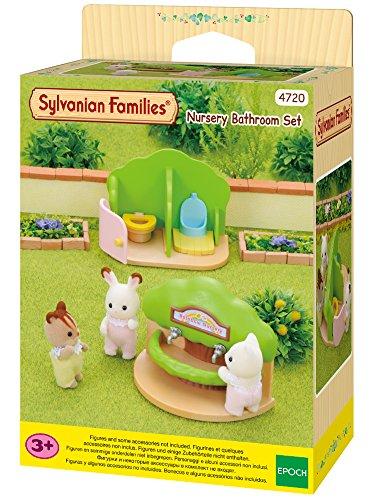Sylvanian Families - Le Village - Les Toilettes et Lavabo de La Crèche - 4720 - Crèche des Bébés - Mini Poupées