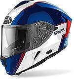 CASCO AIROH SPARK FLOW BLUE/RED GLOSS XL