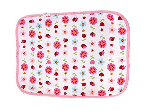 エルフ ベビー(Fairy Baby)ベビー綿おむつ替えシート 携帯用防水 40*30cm(カラー:花)