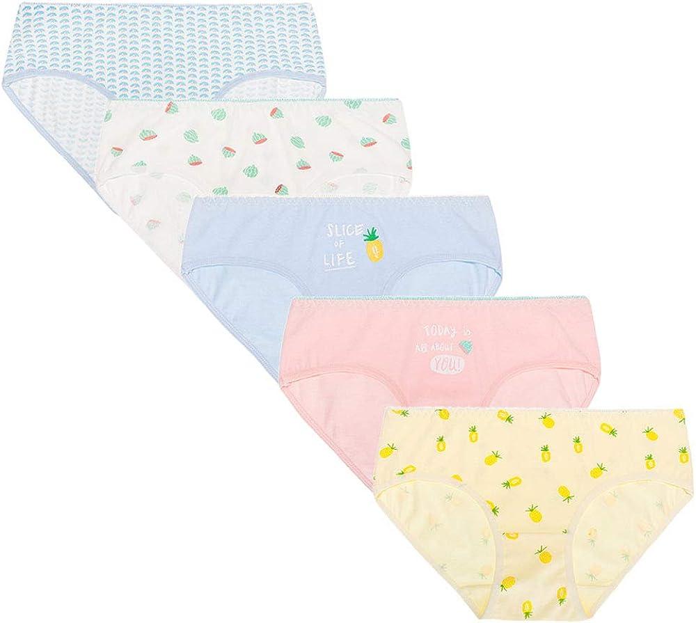 Follnie Teen Girls Underpants Soft Cotton Bikini Underwear Panties Hipster Briefs Knickers Assorted Pack