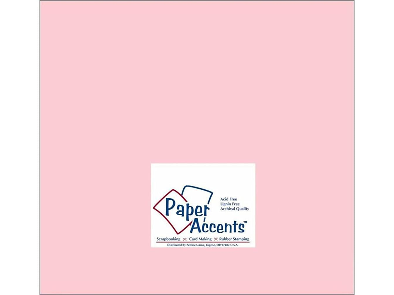 Accent Design Paper Accents Cdstk Smooth 12x12 60# Baby Pink