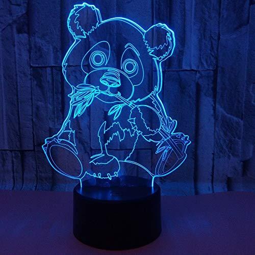Panda Lumière Couleur Veilleuses Enfants Toucher Table Lanpala Lampu Bébé Veilleuses Veilleuses Tomber Bateau Lumières