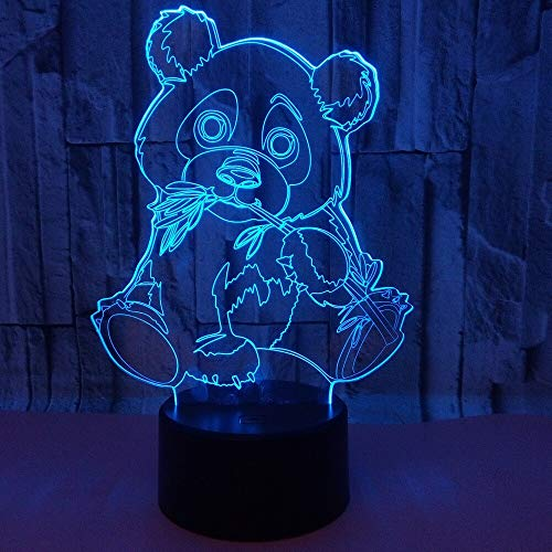 Panda Light Color Nachtlichter Kids Touch Table Lanpala Lampu Baby Nachtlichter Fallende Bootslichter